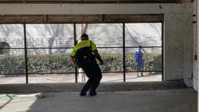 Georgia Tech police officer has spontaneous dance battle with a stranger