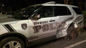 Police remind drivers of 'Move Over Law' after officer's car is hit