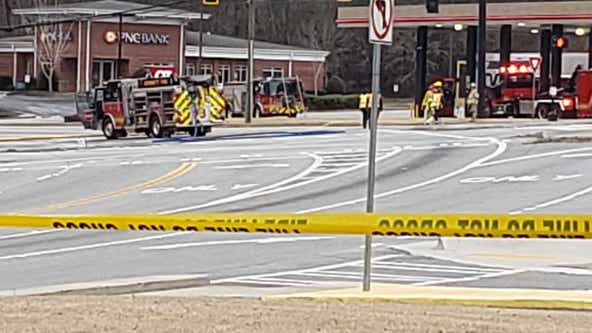 Gwinnett County gas stations evacuated after fuel tanker overturns