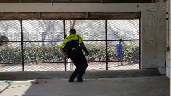 Georgia Tech police officer has spontaneous dance battle with a stranger