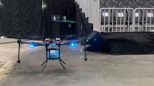 State Farm Arena uses drone to sanitize seats