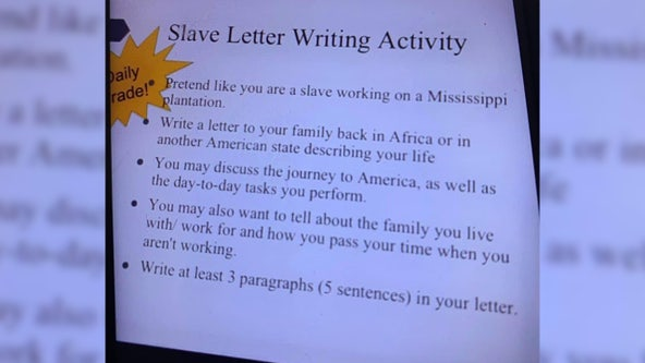 Assignment at Mississippi middle school asks students to 'pretend like you are a slave'