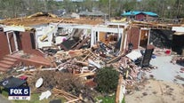 Ossoff, Warnock tour tornado damage in Newnan