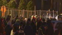 Demonstrators return to Brooklyn Center Police Department for 3rd night