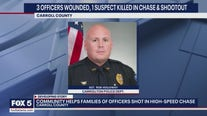 Community rallying around officers shot after high-speed chase