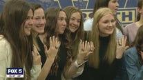 West Forsyth flag football team receives rings
