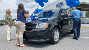 Fayetteville dealership donates handicap van to victim of Newnan tornado
