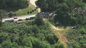 2 bodies found in burning pickup truck just off of a rural Spalding County road