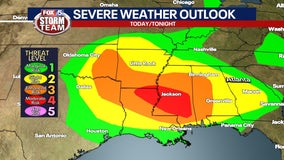 Increased chance for severe storms through Saturday evening