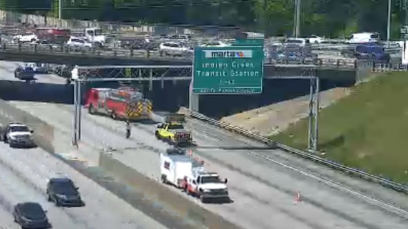 Truck fire blocks all northbound lanes on I-285 in DeKalb County