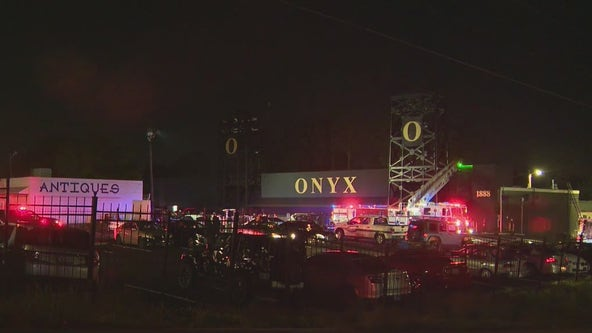 Firefighters respond to blaze at Atlanta night club