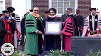 Stacey Abrams gives address at Clark Atlanta University commencement