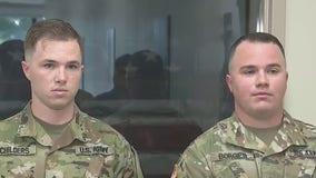Gwinnett chief honors two soldiers for saving gun shot victim