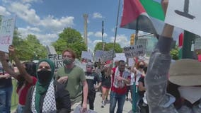 Palestinian supporters hold rally in Downtown Atlanta