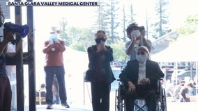 Cheers erupt for 106-year-old man who got his 2nd vaccine shot in San Jose