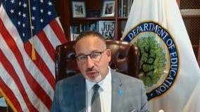 Education Sec. Miguel Cardona addresses learning during pandemic, senators' 1619 Project letter