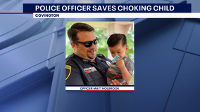 Covington police offices saves choking toddler