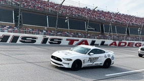 Drivers take 2 laps after receiving vaccines at Talladega Superspeedway