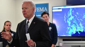 Biden gets hurricane season briefing at FEMA, doubles funding for extreme weather
