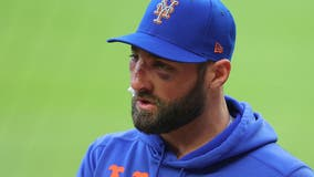Mets' Kevin Pillar has multiple nasal fractures after hit by pitch versus Braves