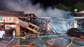 Strip mall fire destroys restaurant, businesses in Norcross