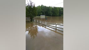 Douglas County park, road closed due to flooding