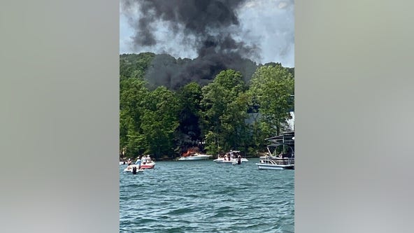 Three people hospitalized after boat explosion on Lake Lanier