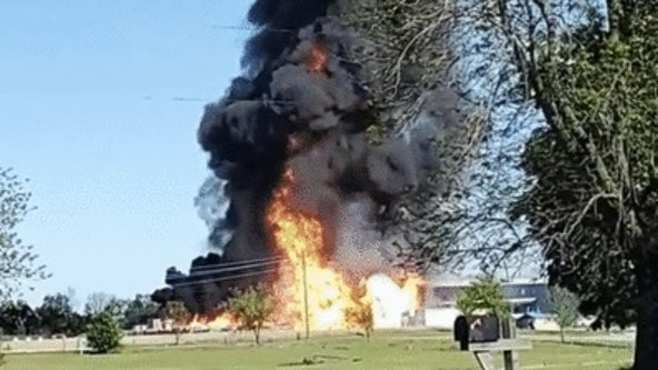 Large fire at propane tank plant in Missouri detected from space