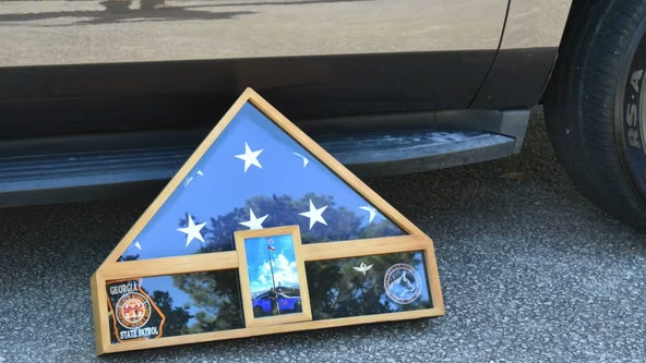 Georgia State Patrol pay tribute to K-9 with funeral procession
