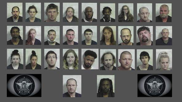 Drug bust nets 29 arrests in Jeff Davis County
