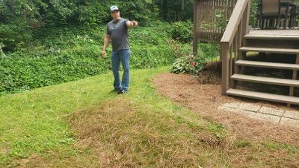 Cobb County couple wants to know who's responsible for sinkhole