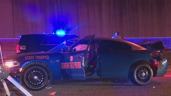 Georgia State Patrol: Troopers hurt after DUI suspect, motorcyclist collide with patrol cars