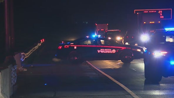 Four hospitalized after chain reaction crash, police say