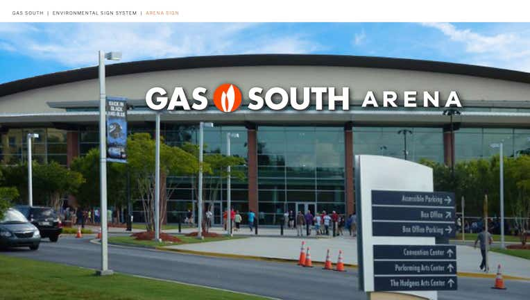 gwinnett arena gas south