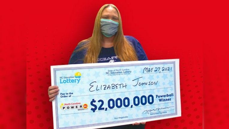 elizabeth johnson nc lottery