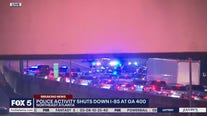 Heavy police activity shuts down Interstate 85