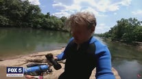 Diver finds pipe bombs in river