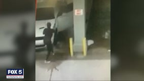 Caught on camera: Brazen thief jumps in woman's car at car wash