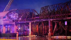 Car crash starts massive fire at NE Atlanta shopping center
