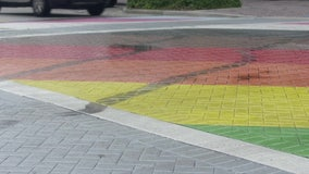 South Florida Pride crosswalk vandalized days after ribbon-cutting ceremony