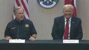 Gov. Abbott, former Pres. Trump jointly visit Texas-Mexico border