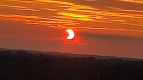 Partial solar eclipse: 'PacMan' sun greets early risers in Maryland