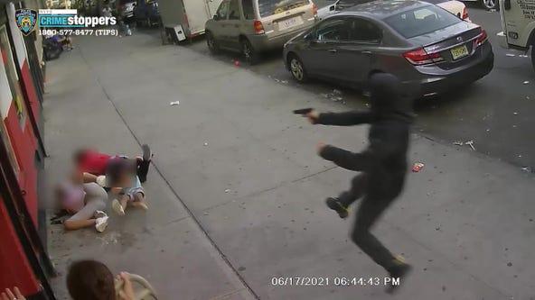 SHOCK VIDEO:  Man shot in front of children in the Bronx