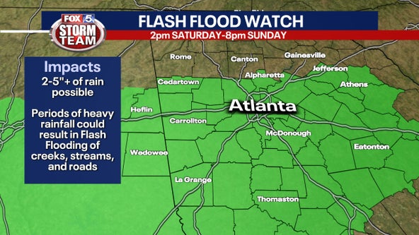 Tropical depression Claudette expected to bring several inches of rain across north Georgia through Sunday