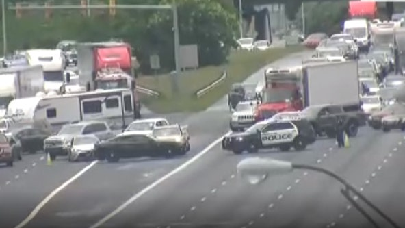 Lanes closed on I-75 north at Roswell Road after traffic incident, police say