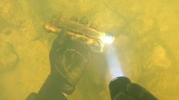 Divers make explosive find in Chattahoochee River