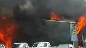 Massive fire destroys Bartow County auto shop