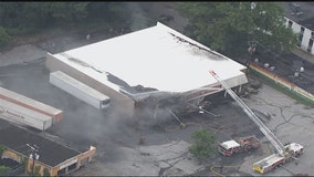 Firefighters battle flames at Family Dollar in Atlanta