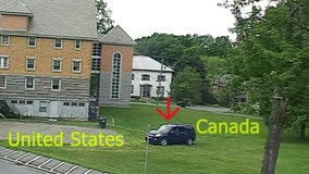 SUV from Canada drives across library lawn to illegally enter U.S.