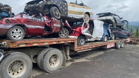 Unusual tradition sends old cars off cliff in small Alaskan town